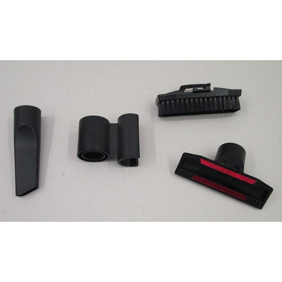 Bosch BGS7SIL64 GS70 Relaxx'x Ultimate - 3 accessoires livrés avec l'appareil : brosse à meubles, brosse textile et suceur