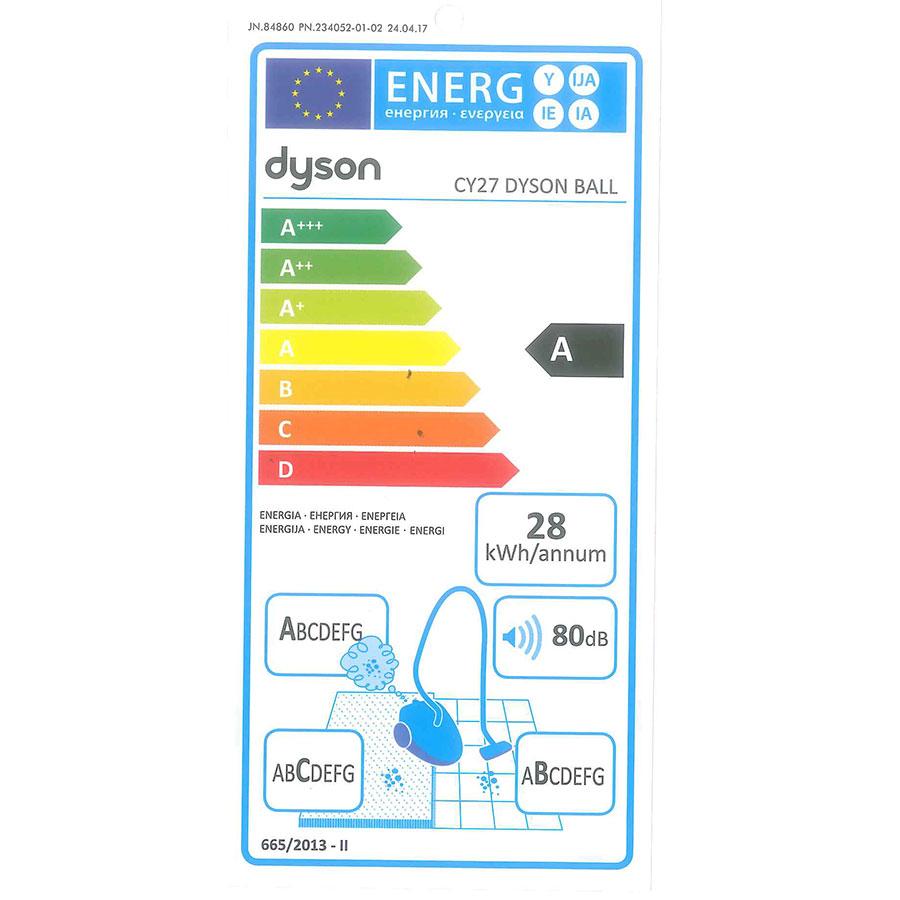 Dyson Ball multifloor CY27 - Étiquette énergie