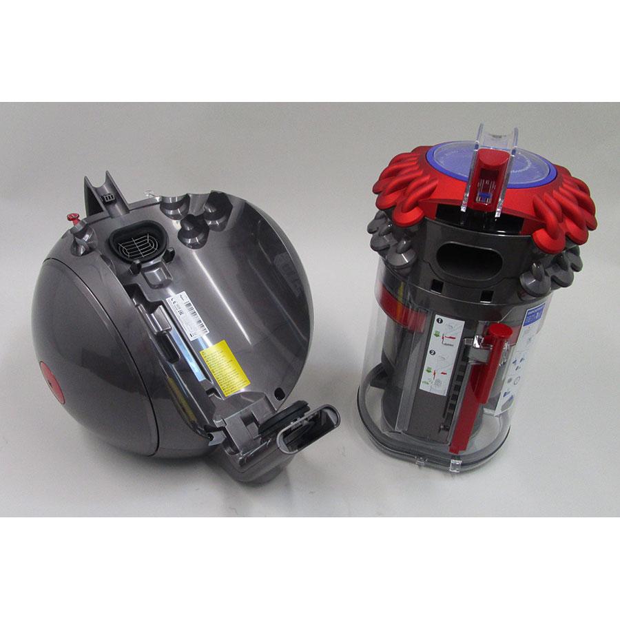Dyson Big Ball Parquet - Retrait du compartiment à poussières