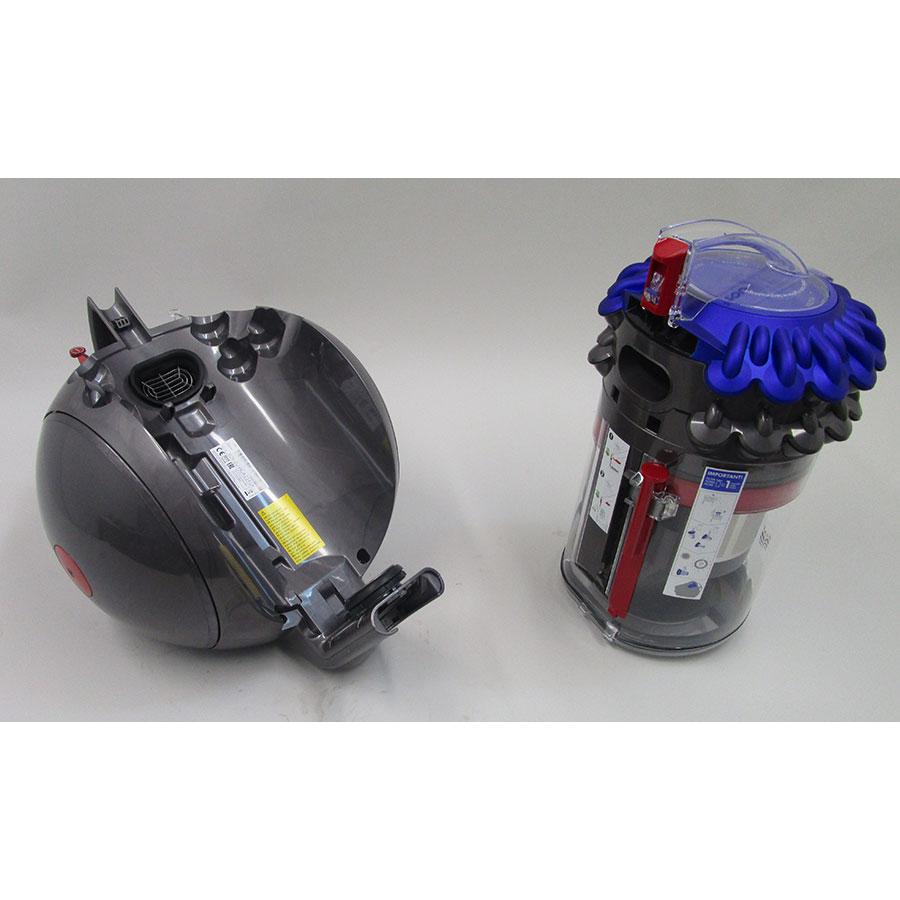 Dyson Big Ball Stubborn - Retrait du compartiment à poussières