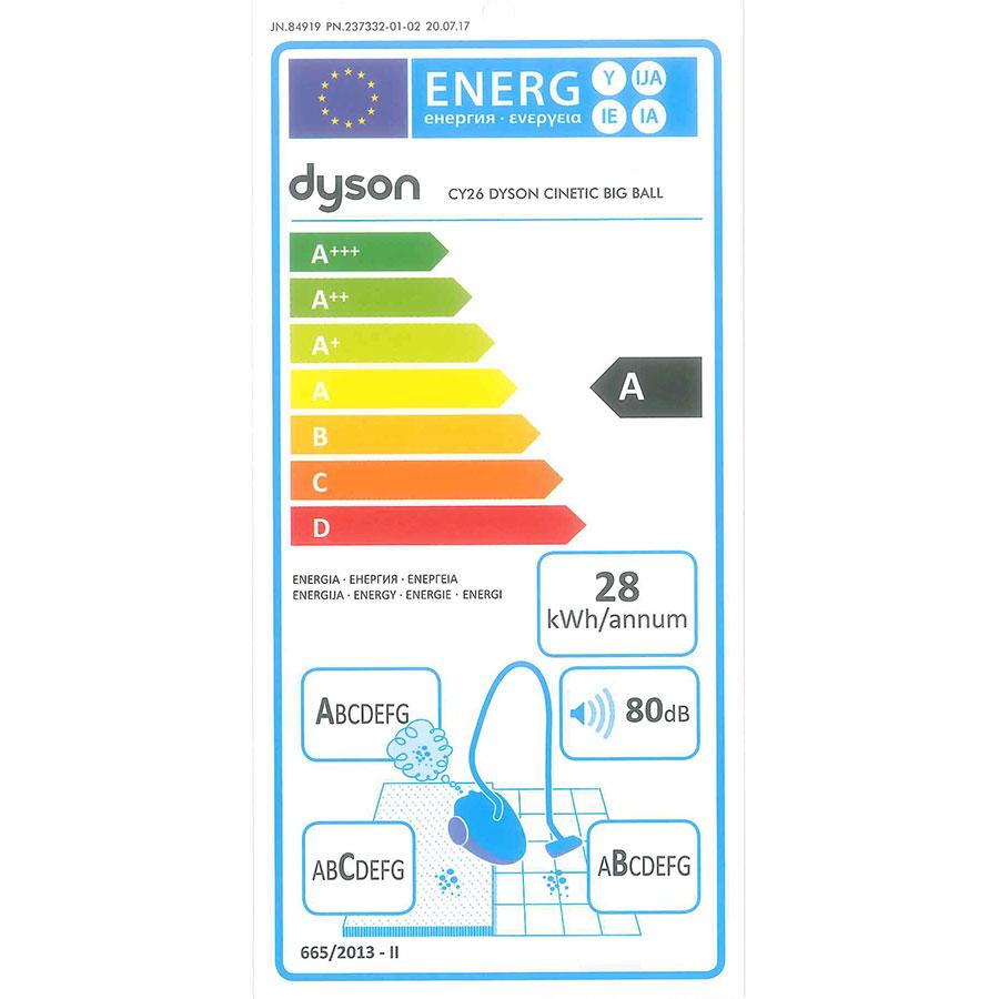 Dyson Cinetic Big Ball Absolute 2 - Étiquette énergie