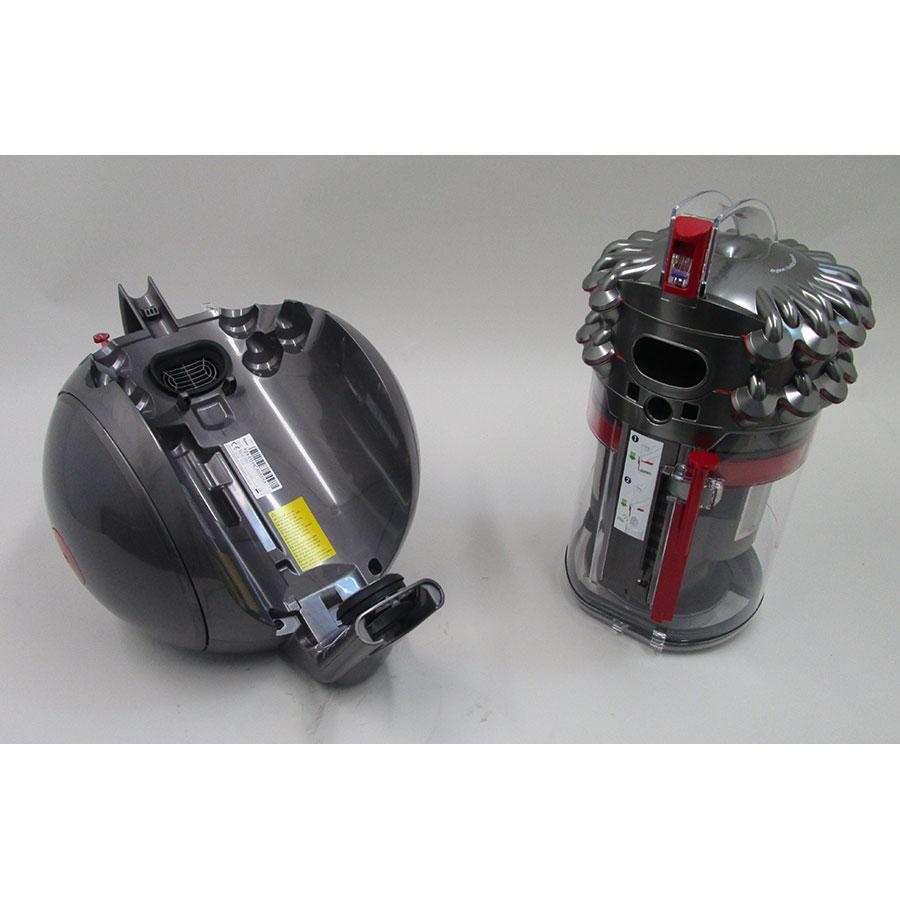 Dyson Cinetic Big Ball Absolute - Retrait du compartiment à poussières