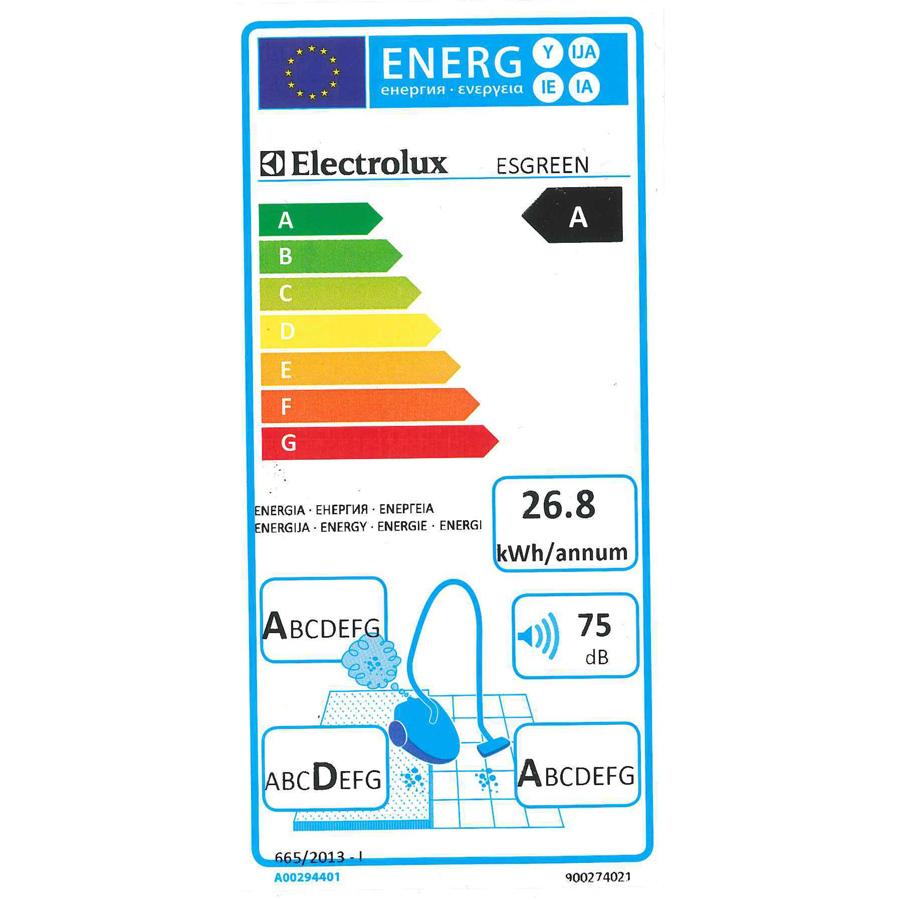 Electrolux Esgreen Ergospace - Étiquette énergie