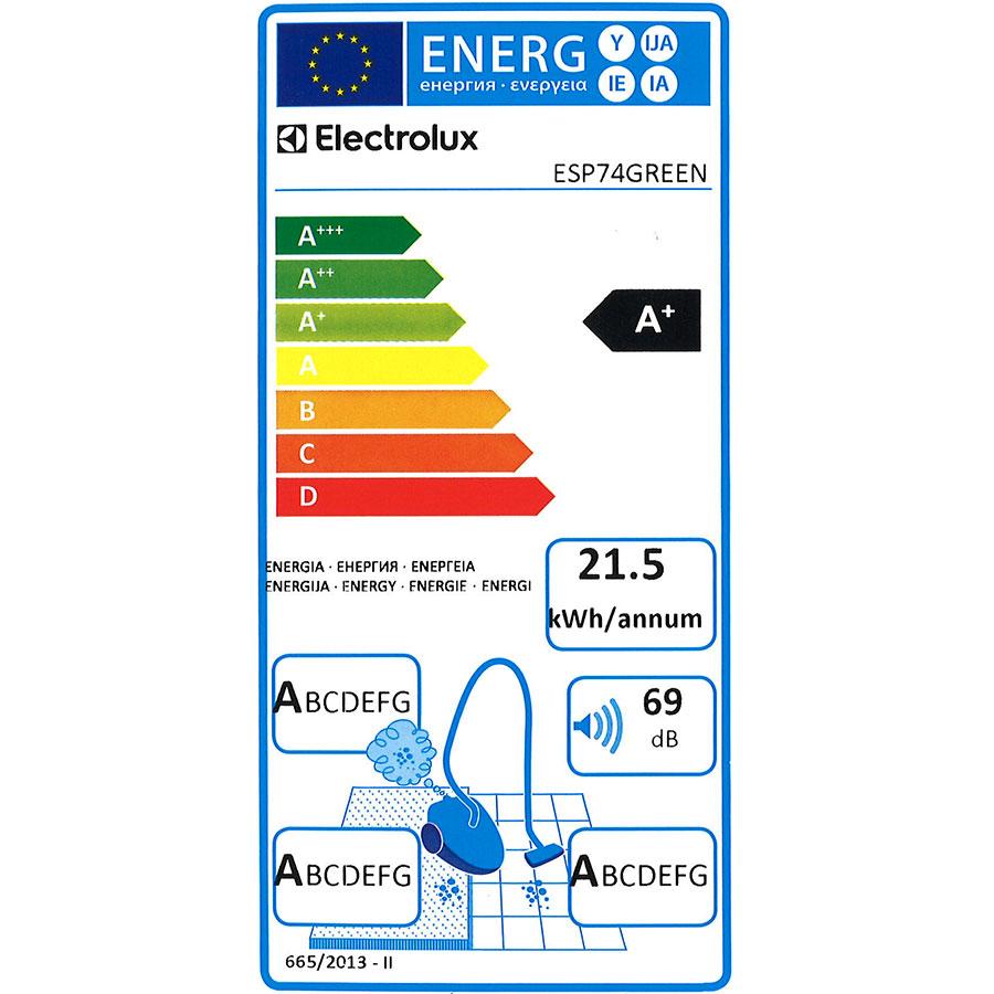 Electrolux ESP74Green Silent Performer - Étiquette énergie