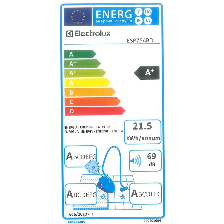 Electrolux ESP754BD Silent Performer - Étiquette énergie