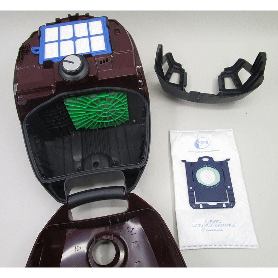 Electrolux ESP754BD Silent Performer - Sac à poussières sorti