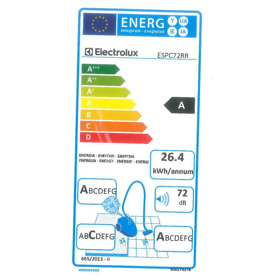 Electrolux ESPC72RR Silent Performer Cyclonic - Étiquette énergie