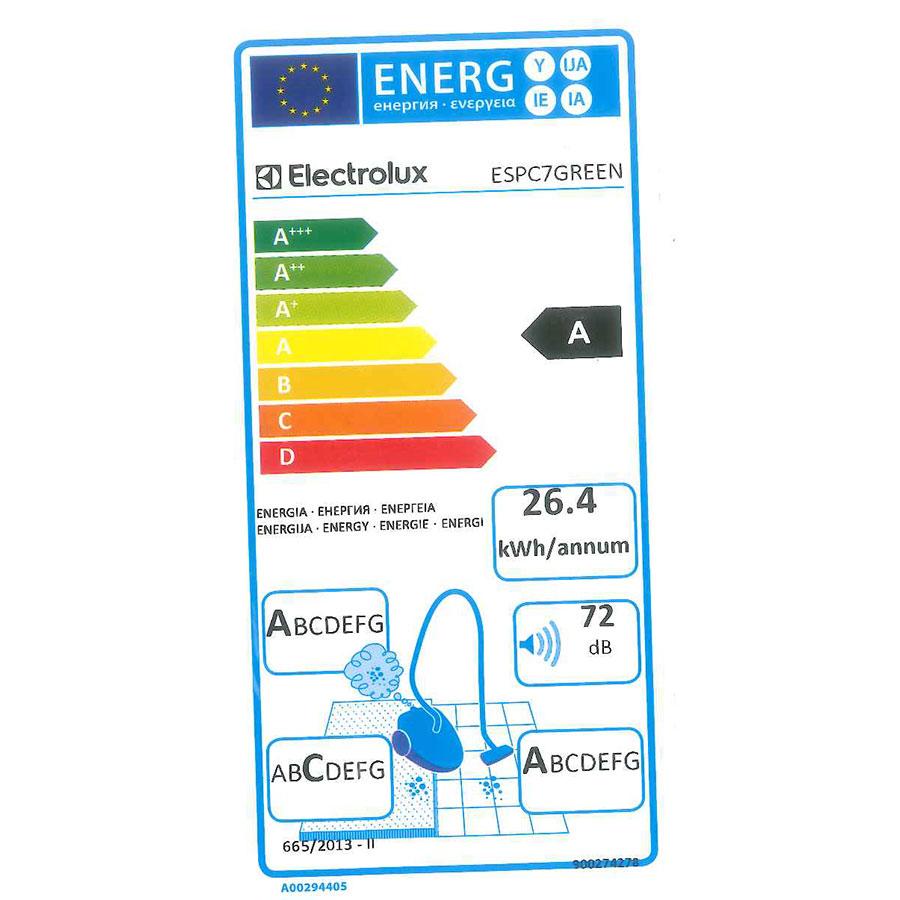 Electrolux ESPC7Green Silent Performer - Étiquette énergie