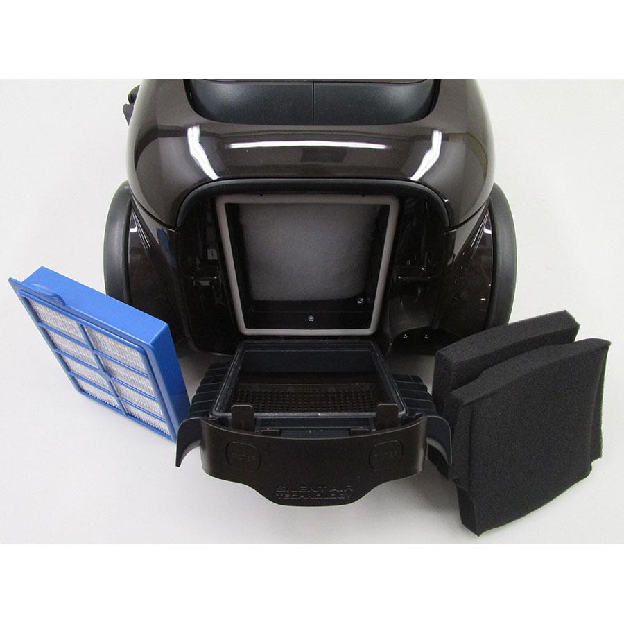 Electrolux EUS85BR UltraSilencer Zen - Filtre sortie moteur sorti