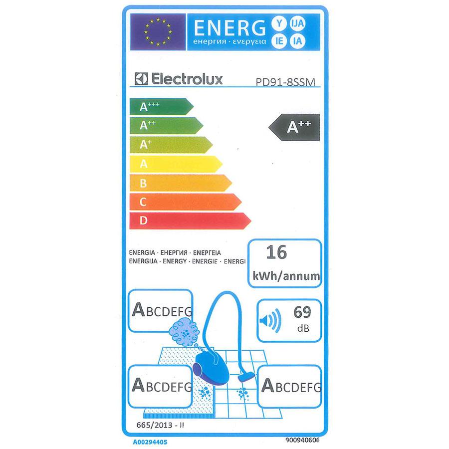Electrolux PD91-8SSM Pure D9 - Étiquette énergie