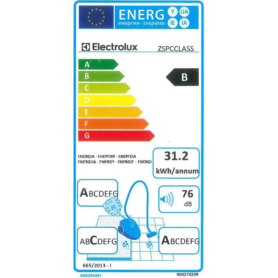 Electrolux ZSPCClass SilentPerformer - Étiquette énergie