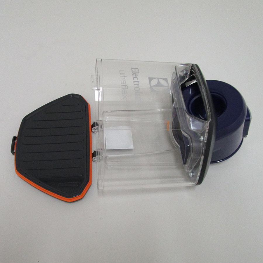 Electrolux Zufclassic Ultraflex - Réservoir à poussières ouvert
