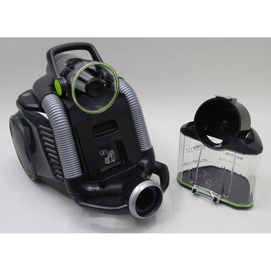 Electrolux Zufgreen ultraflex - Retrait du compartiment à poussières