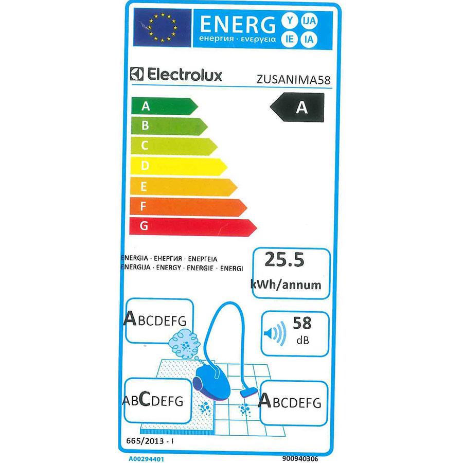 Electrolux Zusanima58 UltraSilencer Zen - Étiquette énergie