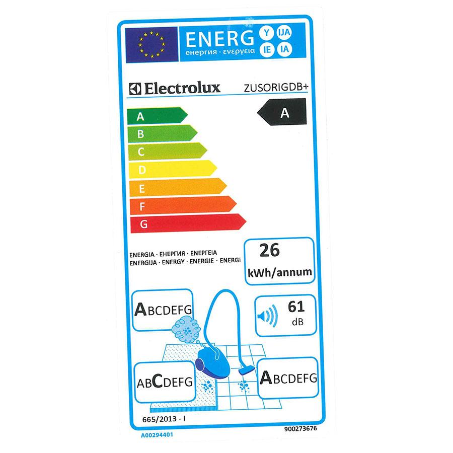 Electrolux Zusorigdb+ - Étiquette énergie