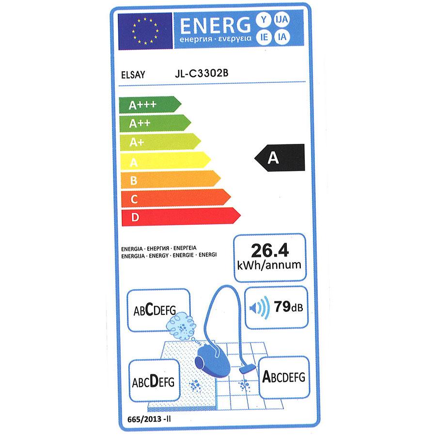 Elsay (E. Leclerc) JL-C3302B - Étiquette énergie