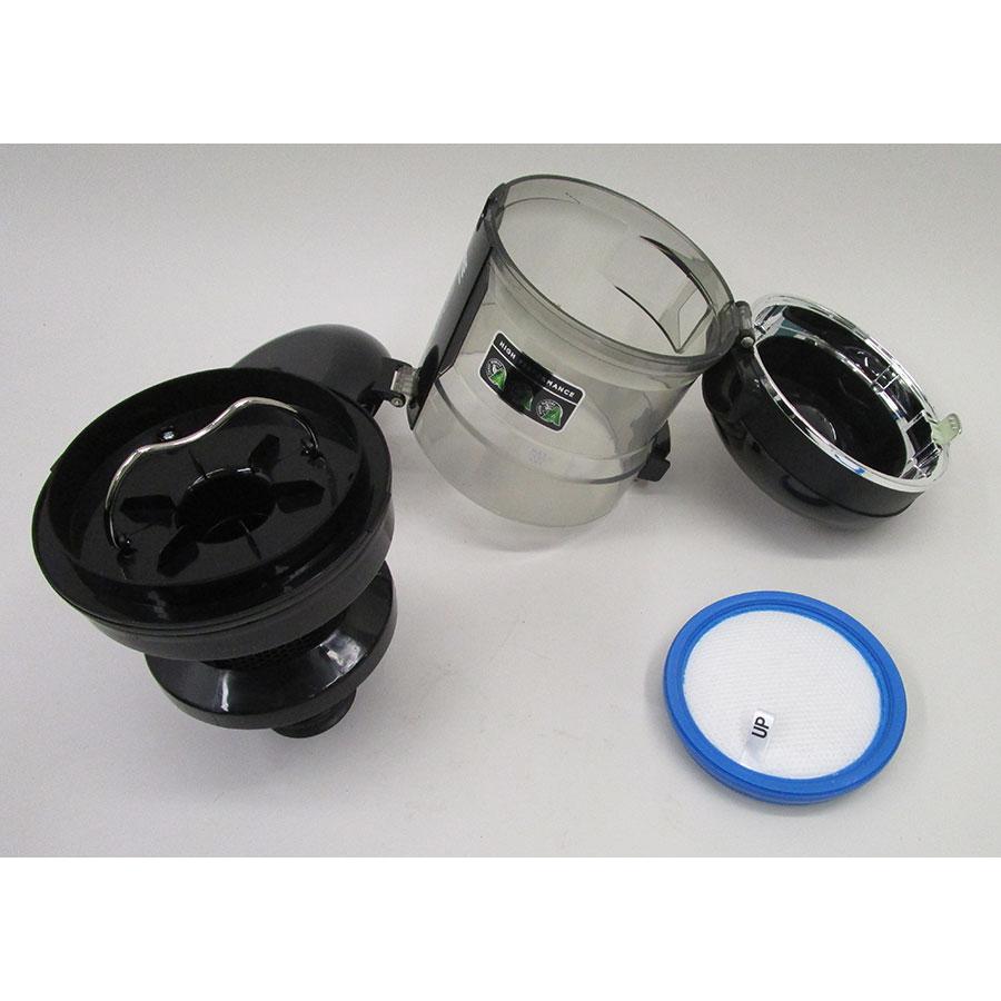 Faure FVS-751B1  - Réservoir à poussières avec son filtre sorti