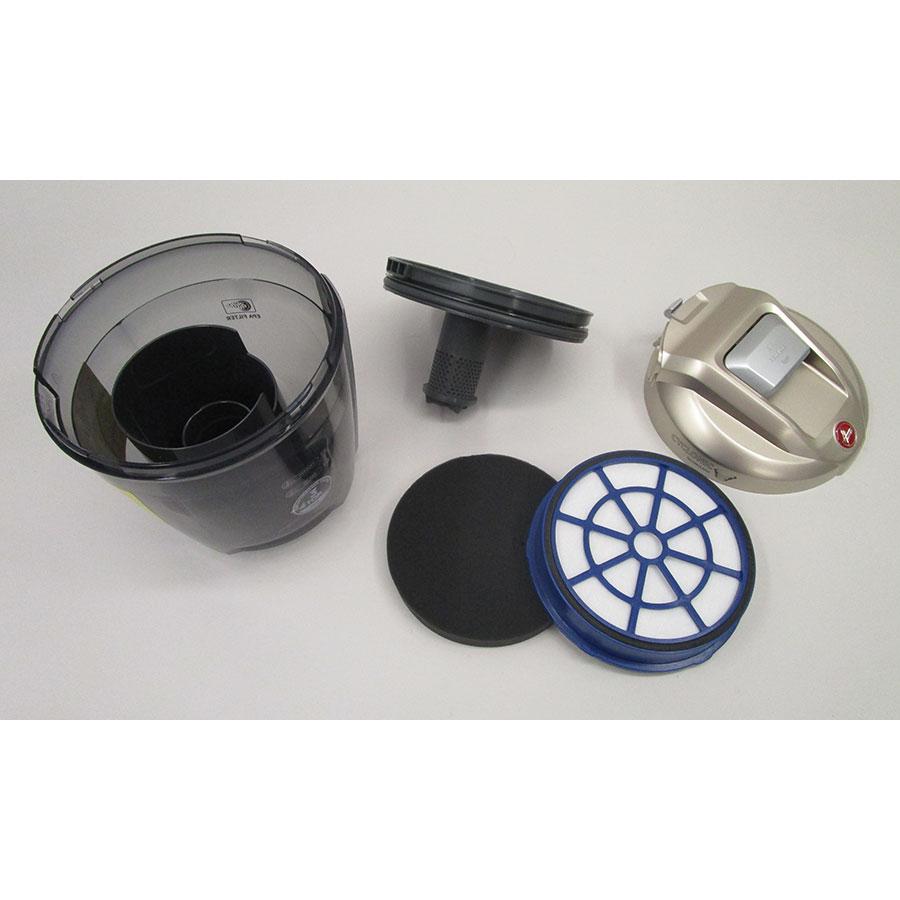 Hoover BR44PET - Réservoir à poussières avec son filtre sorti