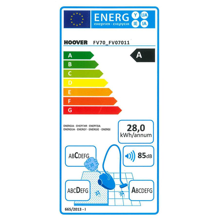 Hoover FV70 FV07 Freespace Evo - Étiquette énergie