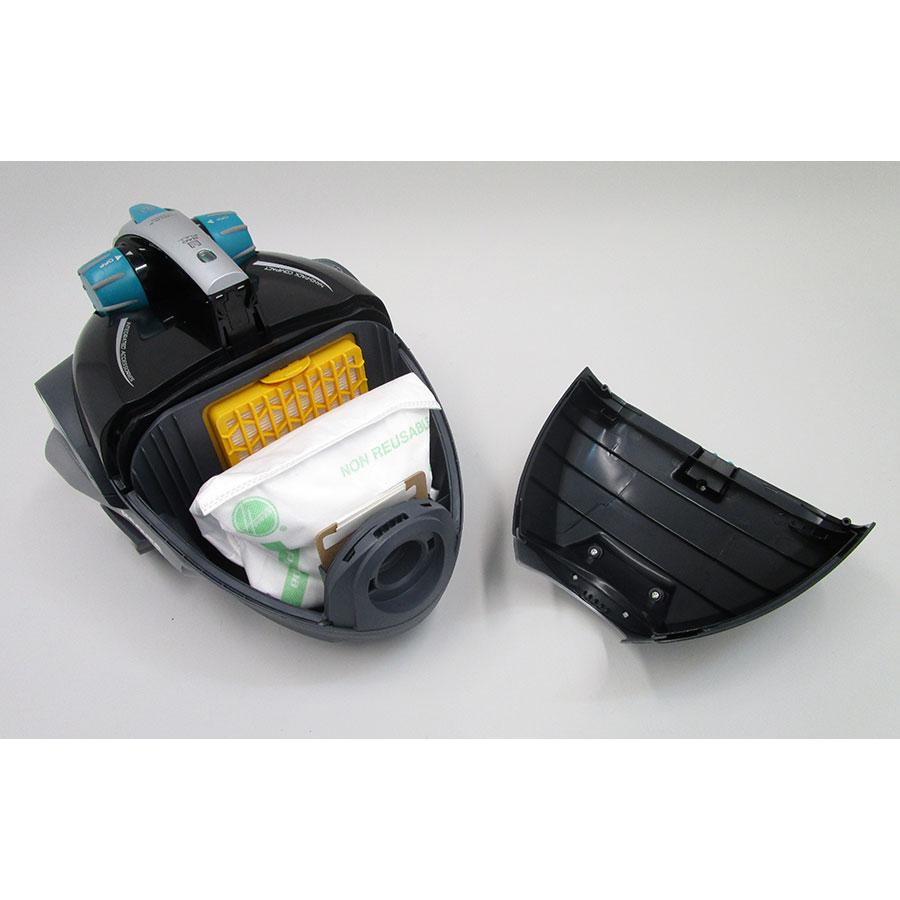 Hoover FV70 FV50 Freespace Evo - Compartiment à sac ouvert