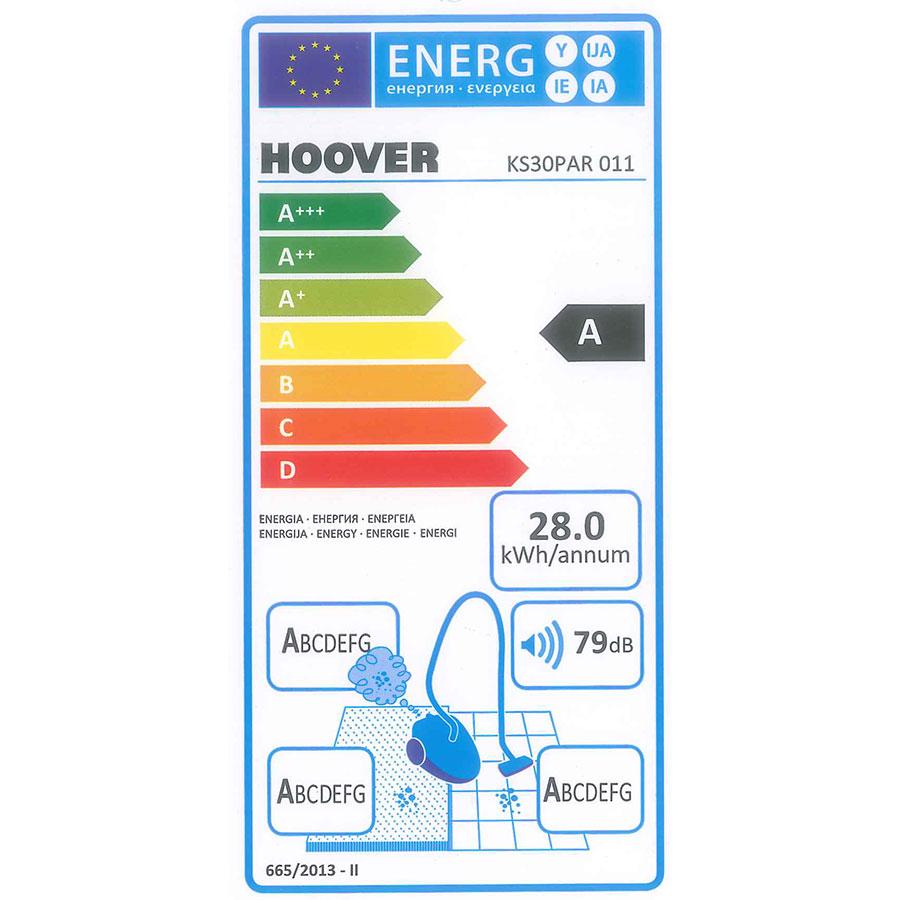 Hoover KS30PAR Khross - Étiquette énergie