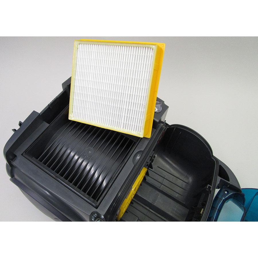 Hoover SO60PAR Sensory Evo - Filtre sortie moteur sorti