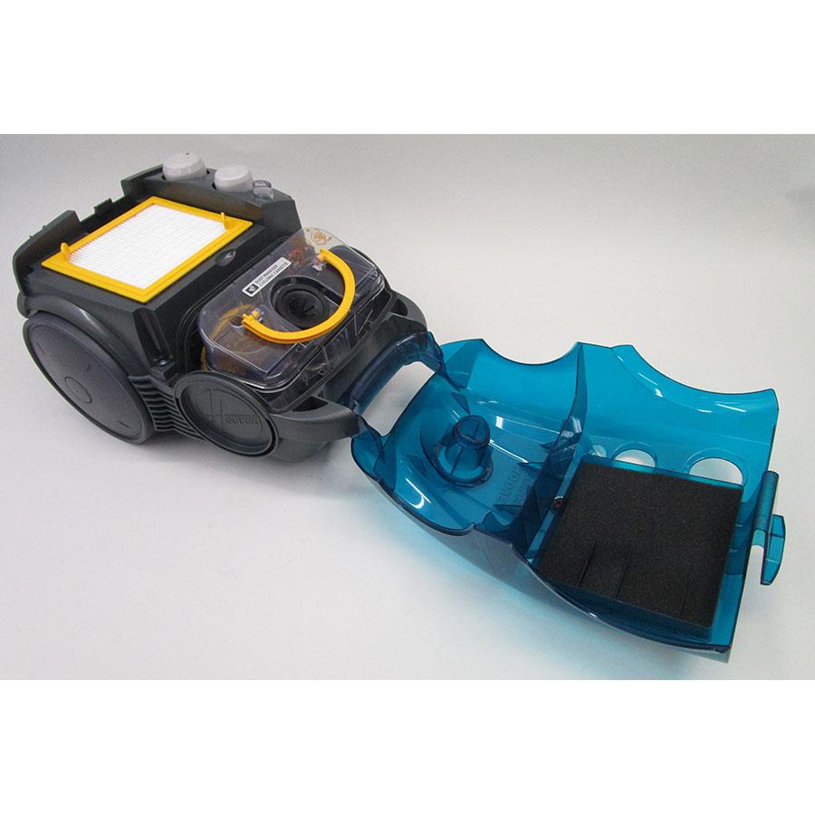Hoover SO60PAR Sensory Evo - Retrait du compartiment à poussières