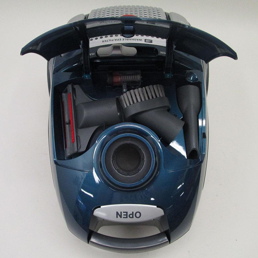 Hoover TE71 PET Telios Plus - Compartiment de rangement des accessoires