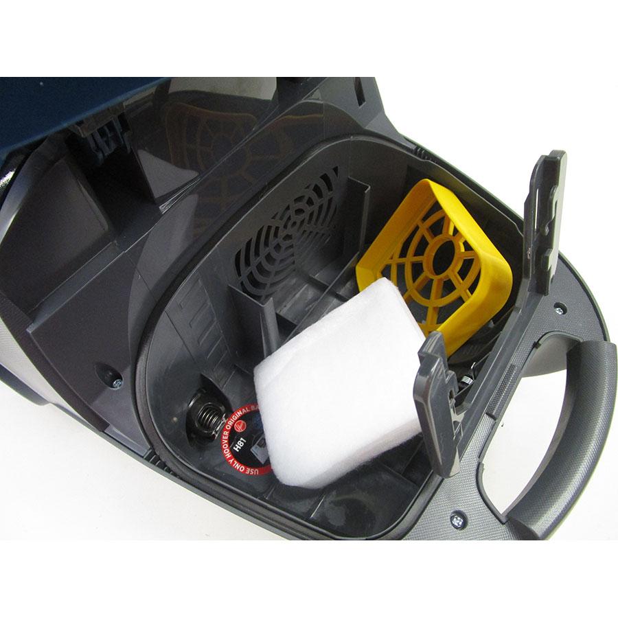 Hoover TX61PET Telios Extra - Filtre entrée moteur sorti