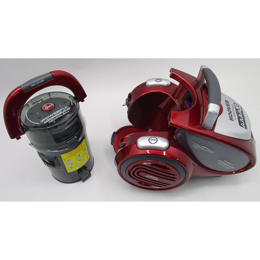 Hoover XP81 XP25 011 Xarion Pro 4A - Retrait du compartiment à poussières