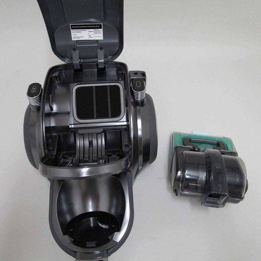 LG VWR514SA Kompressor RoboSense CordZero - Filtre entrée moteur sorti
