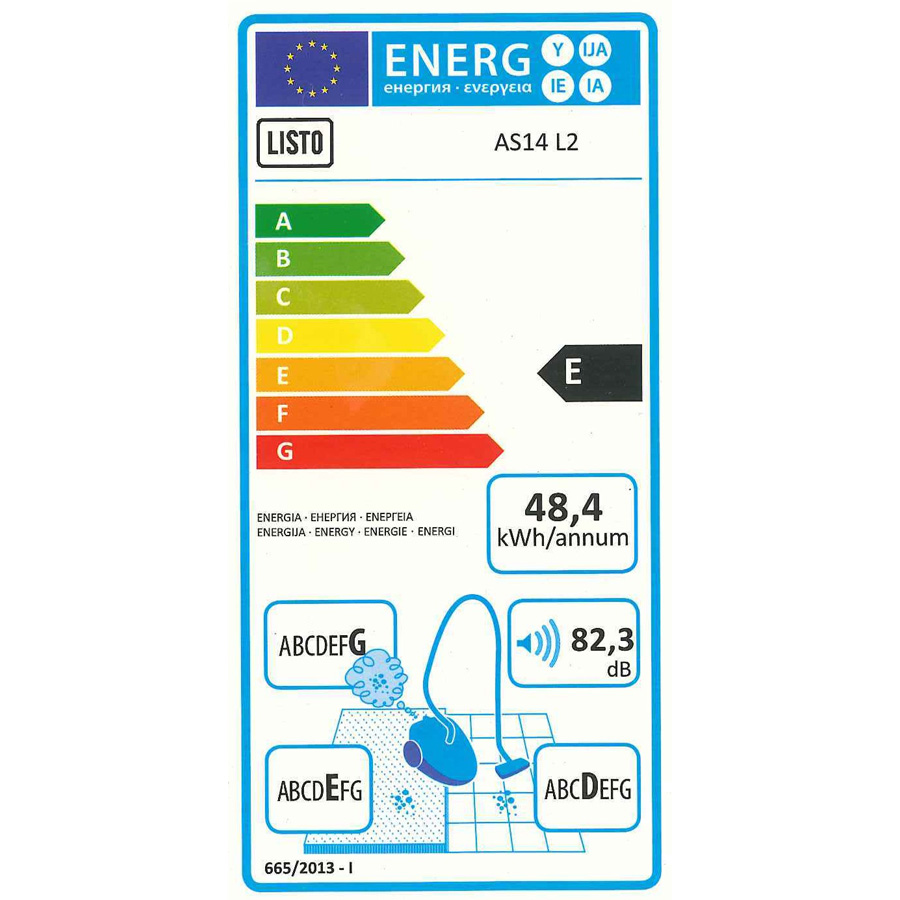 Listo (Boulanger) AS14 L2 - Étiquette énergie