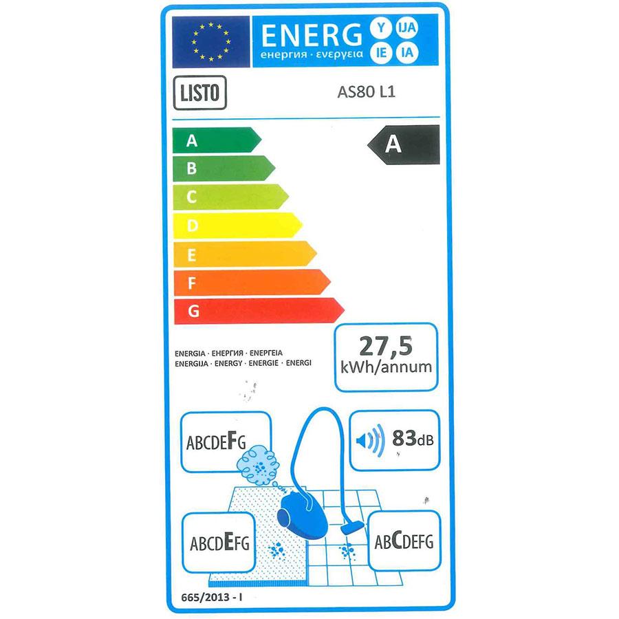 Listo (Boulanger) AS80 L1 - Étiquette énergie