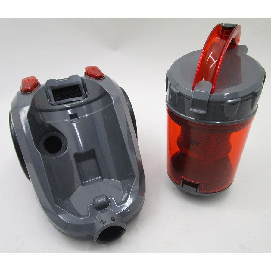 Listo (Boulanger) AS80 L1 - Retrait du compartiment à poussières