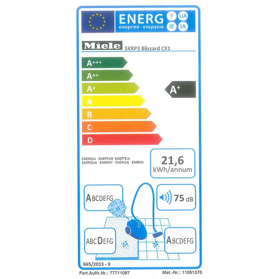 Miele Blizzard CX1 Ecoline SKRP3 - Étiquette énergie