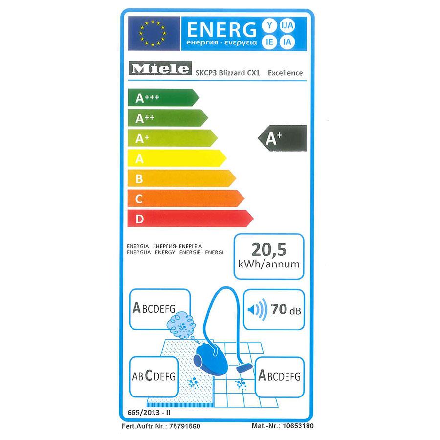 Miele Blizzard CX1 Excellence Ecoline SKCP3 - Étiquette énergie
