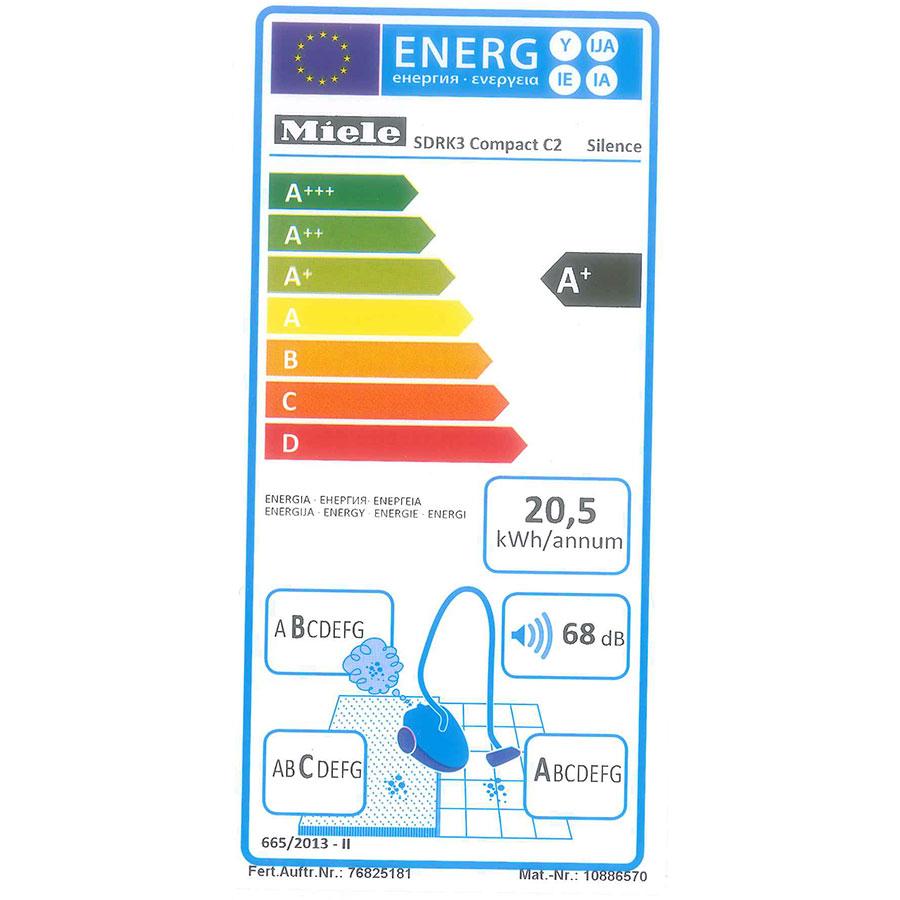 Miele Compact C2 Silence EcoLine SDRK3 - Étiquette énergie