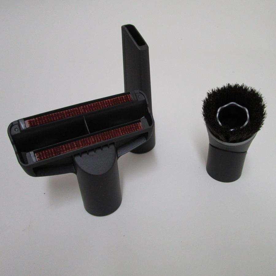 Miele Complete C3 Electro EcoLine - 3 accessoires livrés avec l'appareil : brosse à meubles, brosse textile et suceur
