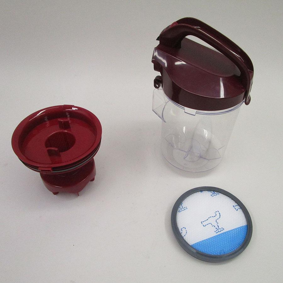 Moulinex MO2923PA Swift Power Cyclonic - Réservoir à poussières avec son filtre sorti