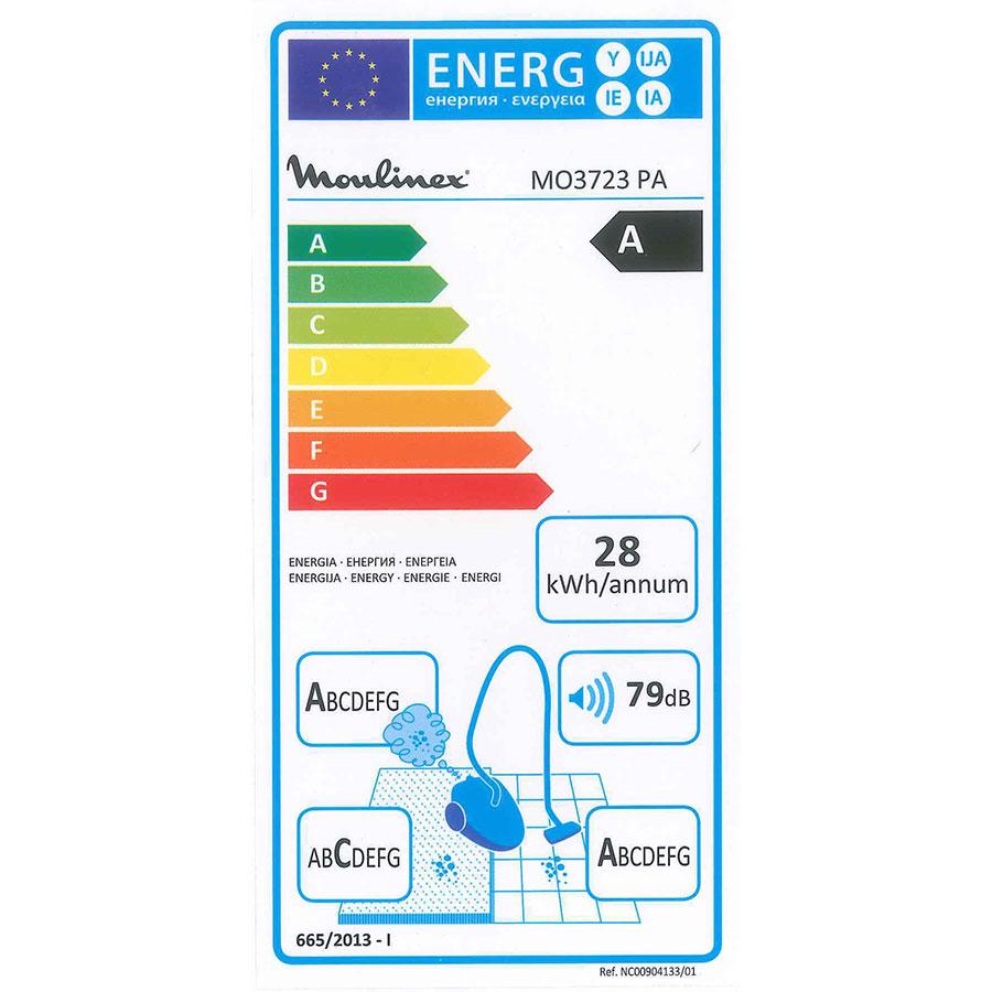 Moulinex MO3723PA Compact Power Cyclonic - Étiquette énergie