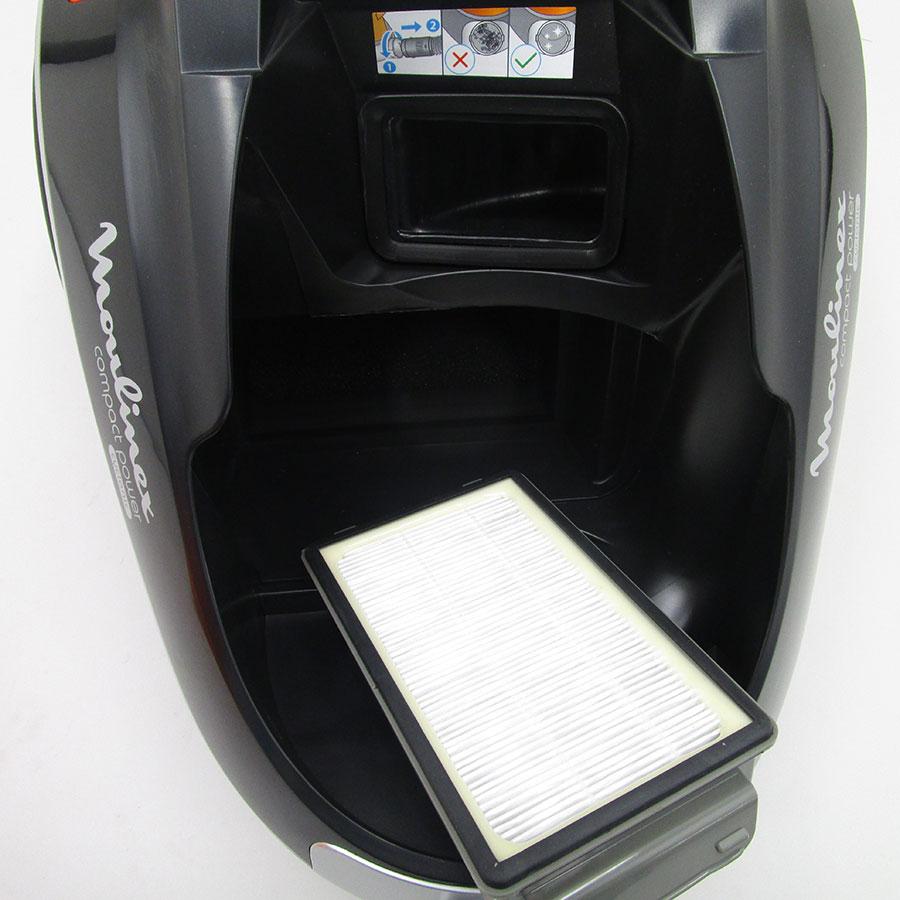 Moulinex MO3723PA Compact Power Cyclonic - Filtre sortie moteur sorti