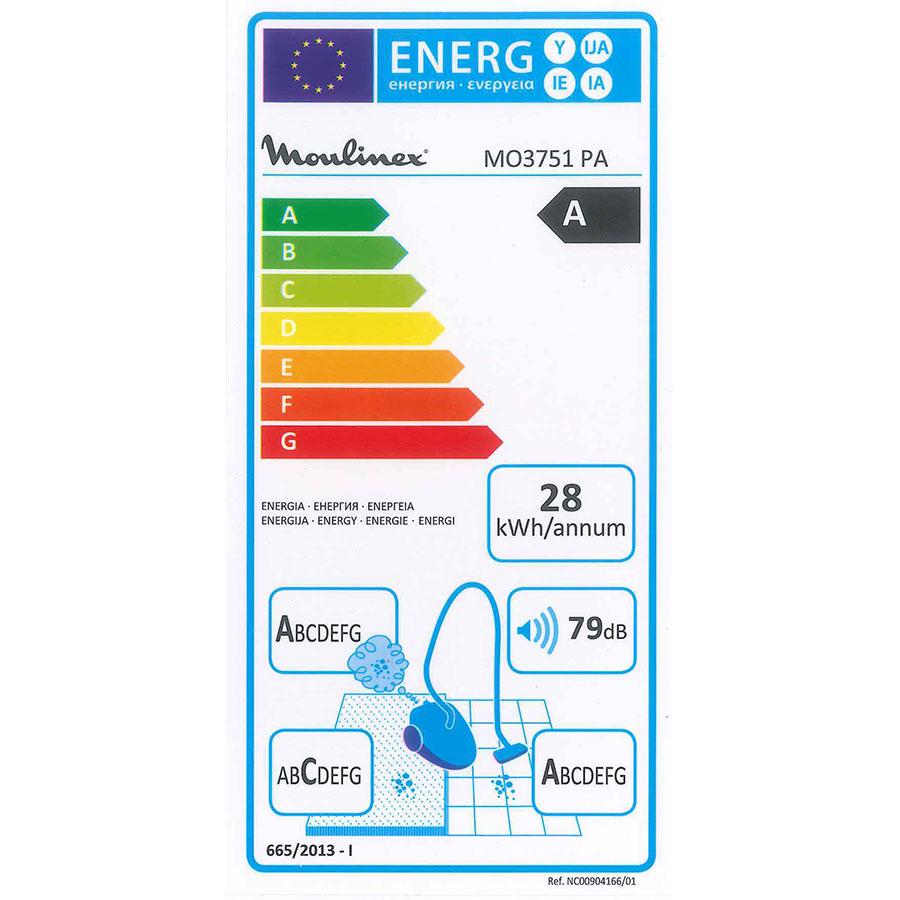Moulinex MO3751PA Compact Power Cyclonic - Étiquette énergie