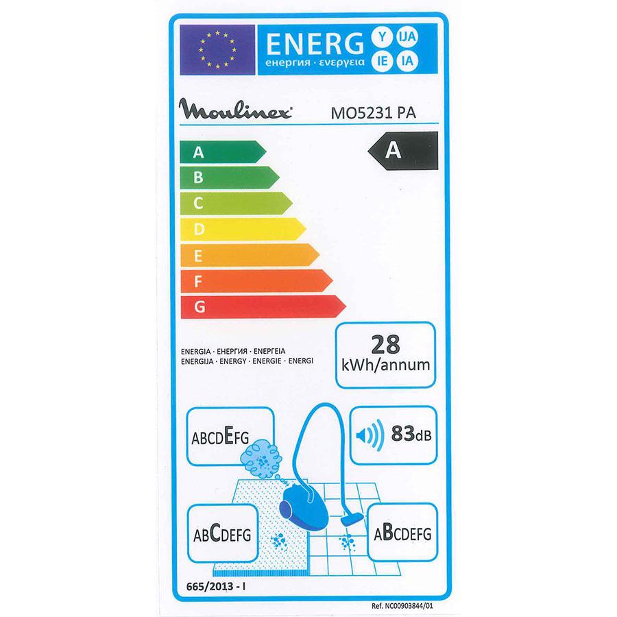 Moulinex MO5231PA Compacteo Ergo - Étiquette énergie
