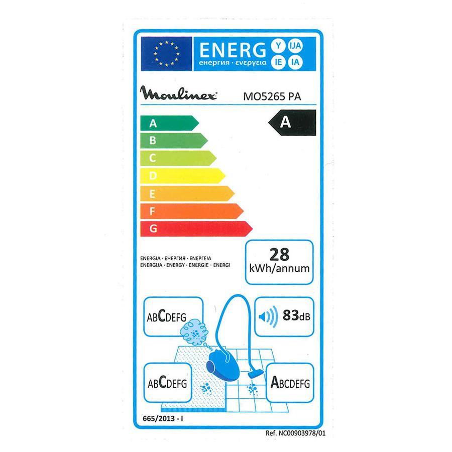 Moulinex MO5265PA Compacteo Ergo - Étiquette énergie