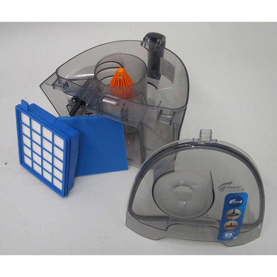 Philips FC9533/09 PowerPro Active - Réservoir à poussières avec son filtre sorti
