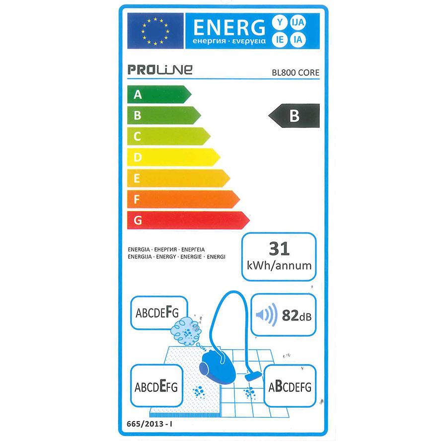 Proline (Darty) BL800 Core - Étiquette énergie