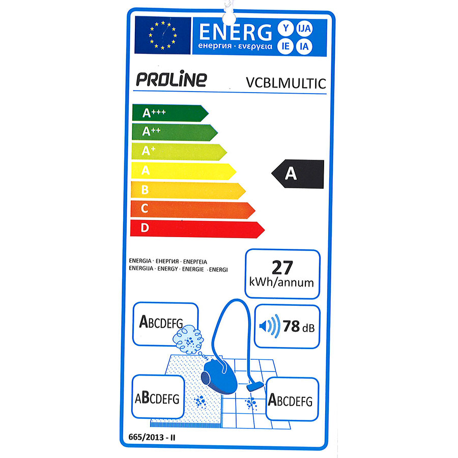 Proline (Darty) VCBLMULTIC - Étiquette énergie