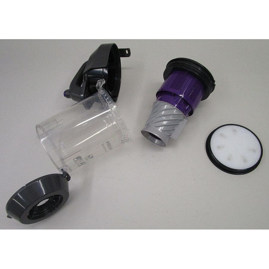 Proline (Darty) VCBLMULTIC - Réservoir à poussières avec son filtre sorti