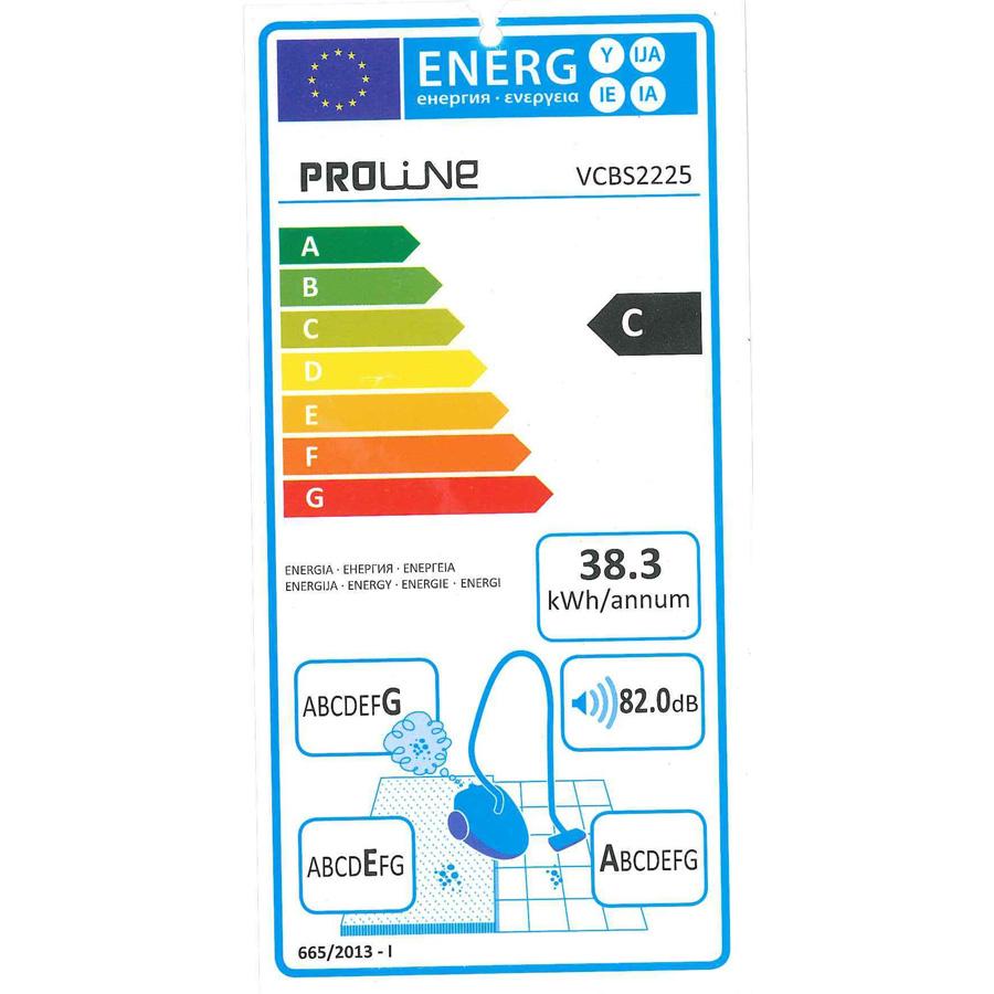 Proline (Darty) VCBS2225 - Étiquette énergie