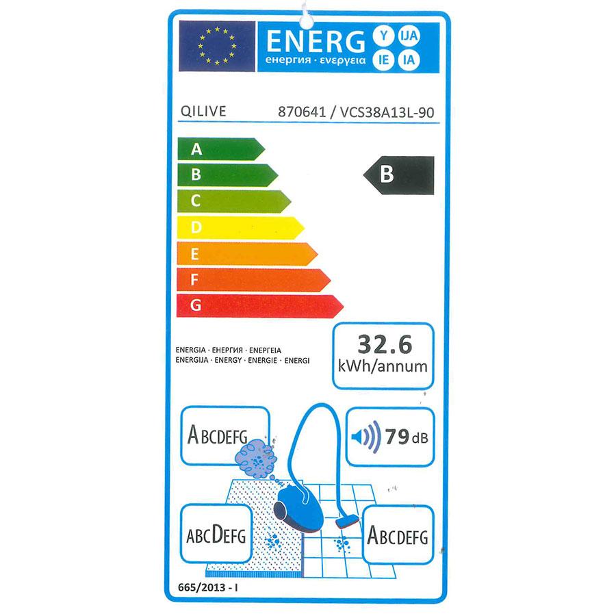 Qilive (Auchan) Q.5775/870641/VCS38A13L-90 - Étiquette énergie
